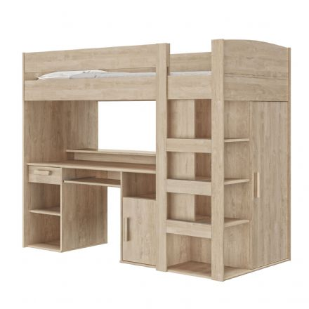 Montana Blonde Oak Cabin Bed